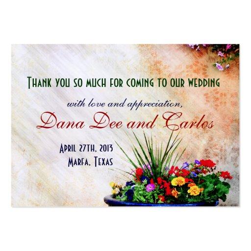 Südwesten-inspirierte Hochzeits-Geschenk-Tasche Visitenkarten