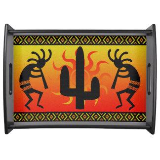 SüdwestenKokopelli Kaktus-Stammes- Entwurf Tablett