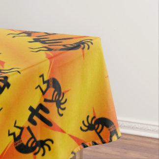 SüdwestenKokopelli Muster-Gelb und Schwarzes Tischdecke