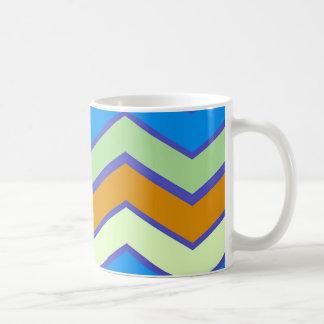 Südwestliche Designer-Majestäts-Zickzacke Kaffeetasse