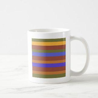 Südwestliche horizontale Streifen Kaffeetasse