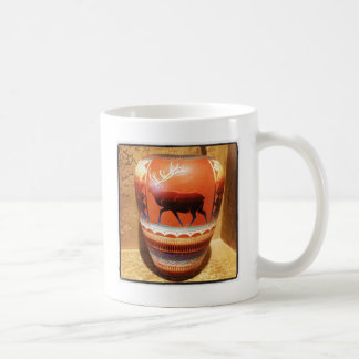 Südwestlicher Ureinwohner-Kunst-Vase mit Elchen Kaffeetasse