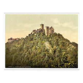 Südwestseite, Wartburg, Thüringen, Deutschland Postkarte