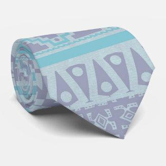 Südweststammes- blaue geometrische Krawatte