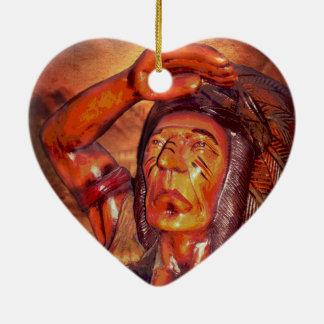 Südweststammes- gebürtiger Ureinwohner-Leiter Keramik Ornament