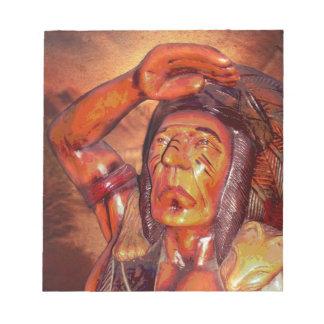 Südweststammes- gebürtiger Ureinwohner-Leiter Notizblock