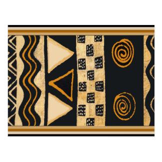 Südweststammes- Ureinwohner-Entwurf Postkarte