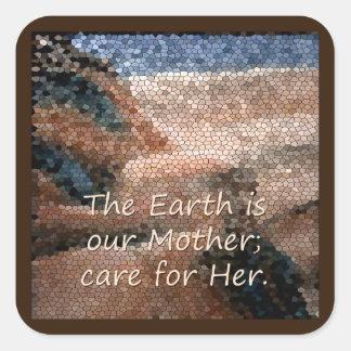 SüdwestUreinwohner-Mutter Erden-Aufkleber Quadratischer Aufkleber