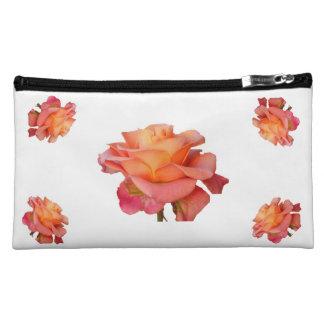 Sueded kosmetische Tasche der Rose rosa gelbes Rot