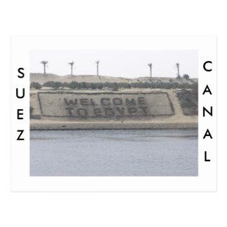 Suezkanal-Postkarte Postkarten