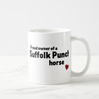 Suffolk-Durchschlagspferd Kaffeetasse