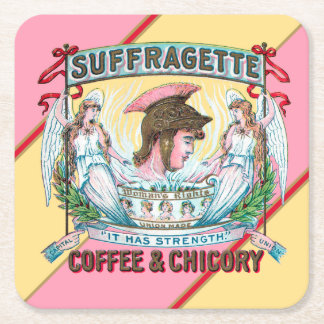 Suffragette-Kaffee u. Zichorie Rechteckiger Pappuntersetzer