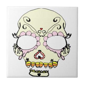 Suga Schädel-Süßigkeits-Kunst Kleine Quadratische Fliese