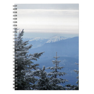 Sugarloaf Berg auf dem Horizont in Maine Notizblock