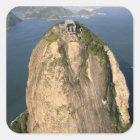 Sugarloaf Berg, Rio de Janeiro, Brasilien Quadratischer Aufkleber