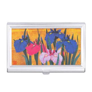 Sugiura Kazutoshi irises malende orientalische Visitenkarten Etui