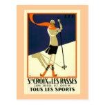 """""""Suite Croix und Les Rasses"""" Schweizer Vintage Rei Postkarte"""