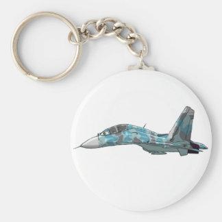 Sukhoi Su-27 Flanker-Karikatur Keychain Schlüsselanhänger