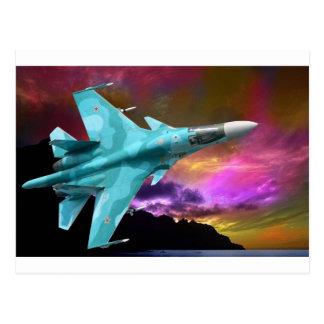Sukhoi Su-47 (S-37) Berkut ÜberschallDüsenjäger Postkarte