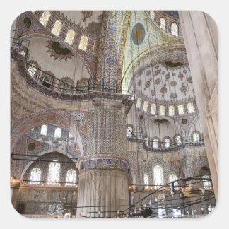 Sultanahmet Moschee in Istanbul die Türkei Quadratischer Aufkleber