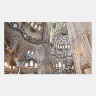 Sultanahmet Moschee in Istanbul die Türkei Rechteckiger Aufkleber