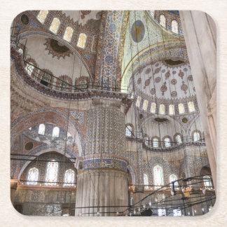 Sultanahmet Moschee in Istanbul die Türkei Rechteckiger Pappuntersetzer