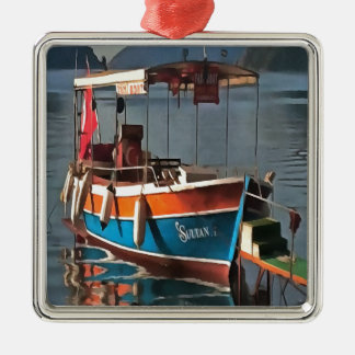 Sultans-Taxi-Boot Marmaris Silbernes Ornament