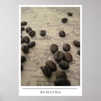 Sumatra - senden Sie Kaffee-Kunst Plakat