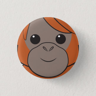 Sumatran Orang-Utan Gesichts-Knopf Runder Button 3,2 Cm