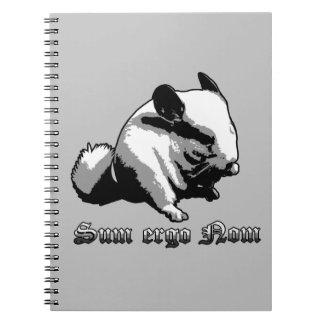"""""""Summe ergo Nom"""" Foto-Notizbuch (80 Seiten B&W) Spiral Notizbuch"""