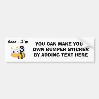 Summen-Hummel-3. Geburtstags-T - Shirts und Autoaufkleber