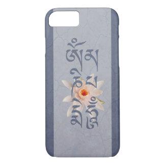 Summen Lotus - Blau OM Mani Padme iPhone 8/7 Hülle