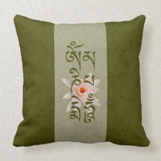 Summen Lotus - Grün OM Mani Padme Kissen