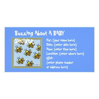 Summen-Summen-Babyparty Foto Karte