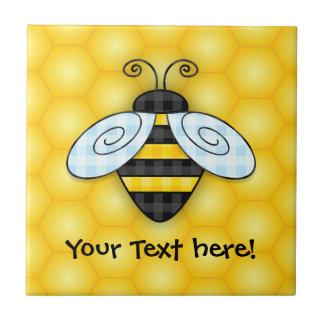 Summende Hummel-und Bienenwaben-Illustration Fliese