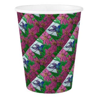 Summenvogel-Blumen Pappbecher