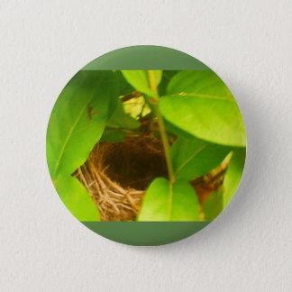 Summenvogel-Nest Nestled im Geißblatt-Knopf Runder Button 5,1 Cm
