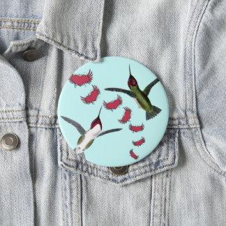 Summenvogel-Schmutz-Herzen mit Flügeln Runder Button 10,2 Cm