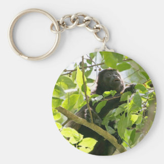 Summer-Affe im Dschungel-Foto Schlüsselanhänger