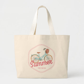 Summer, for Time, fun Jumbo Stoffbeutel