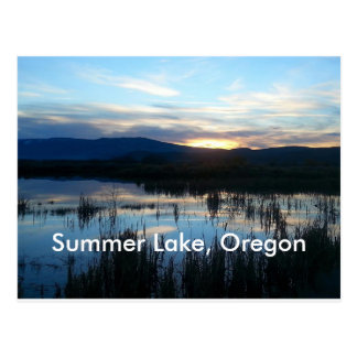 Summer See Oregon Postkarte