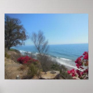 Summerland Strand nahe Santa Barbara Poster