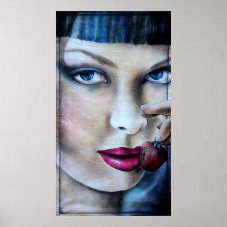 Summerwine print poster druck women painting
