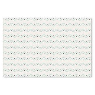 Summery Wellen und Punkte Seidenpapier