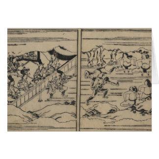 Sumo circa 1600s Japan Karte