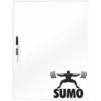 SUMO-HOCKE - Powerlifting motivierend Trockenlöschtafel
