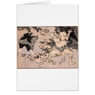 Sumo-Ringkämpfer, circa 1800's. Japan Karte