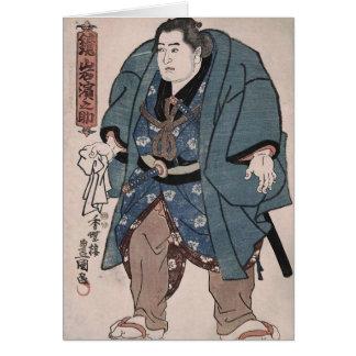 Sumo-Ringkämpfer des 19. JahrhundertsKajamiiwa Karte