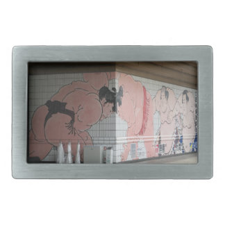 Sumo-Wand-Kunst Rechteckige Gürtelschnalle
