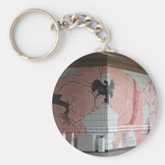 Sumo-Wand-Kunst Schlüsselanhänger